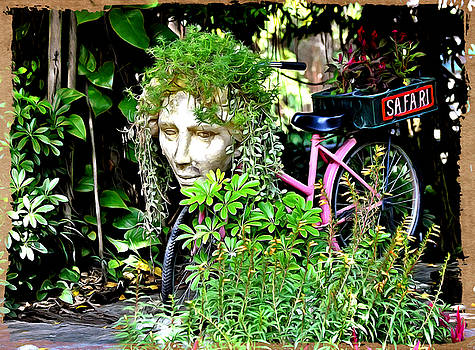 Bliss Of Art - The plants bicycle