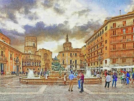 The Plaza de la Virgen by Digital Photographic Arts