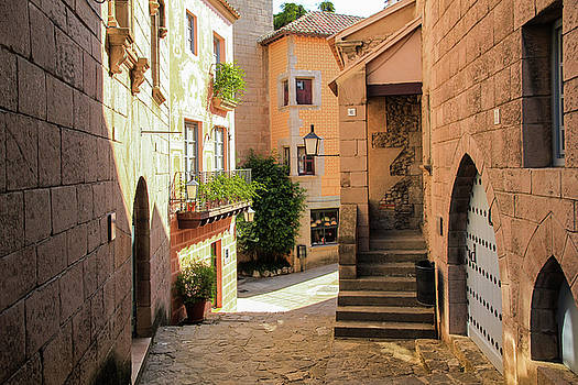 The Poble Espanyol or Spanish Village by Yana Reint