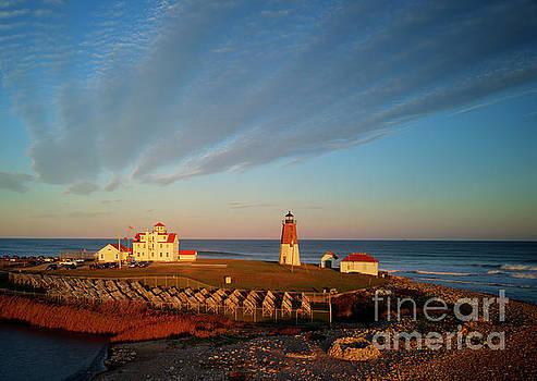 Wayne Moran - The Point Judith Light Narragansett Bay Rhode Island - Drone