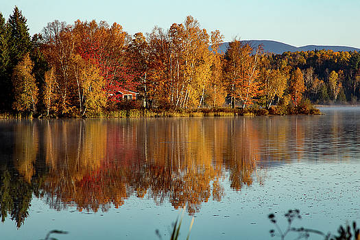 The point of Maine fall colors by Jeff Folger
