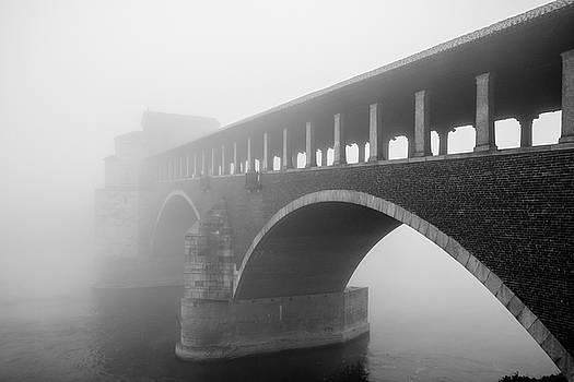 The Ponte coperto over the Ticino river - Pavia / Italy by Massimo Mazza