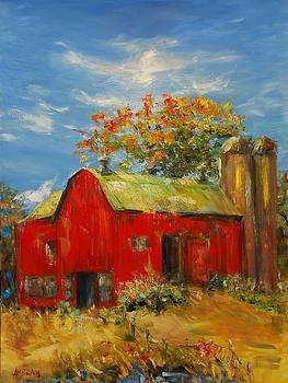 The Porter Barn in Red  by Ann Bailey