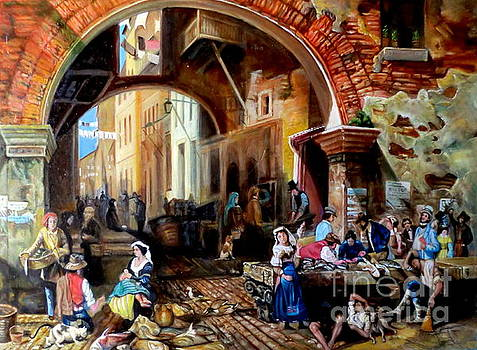 The Portico of Octavia after Albert Bierstadt  by Hidemi Tada