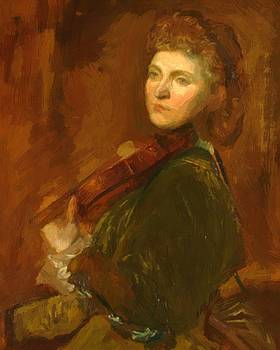 Watts George Frederick - The Portrait Of Violinist Wilma Neruda