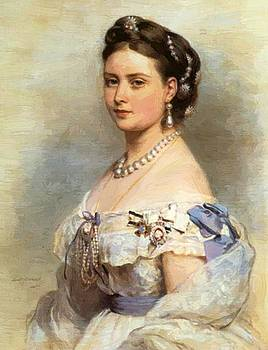 Winterhalter Franz Xaver - The Princess Victoria Princess Royal As Crown Princess Of Prussia In 1867