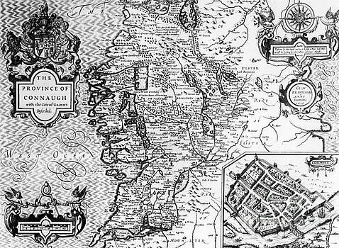 Jodocus Hondius - The Province of Connaught with the City of Galway