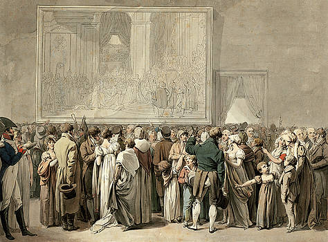 Louis-Leopold Boilly - The Public in the Salon of the Louvre