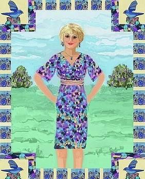 The Purple Pebbles Dress by Jeannie Allerton