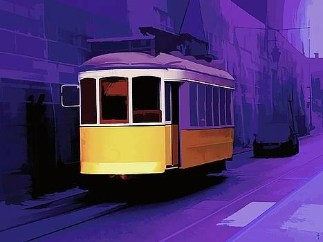 The Purple Street  by Daniel Arrhakis