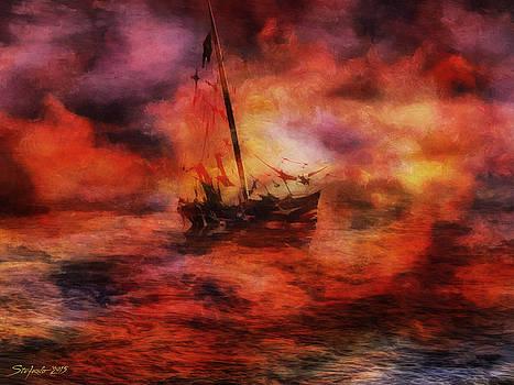 The Purple Sunset by Stefano Popovski