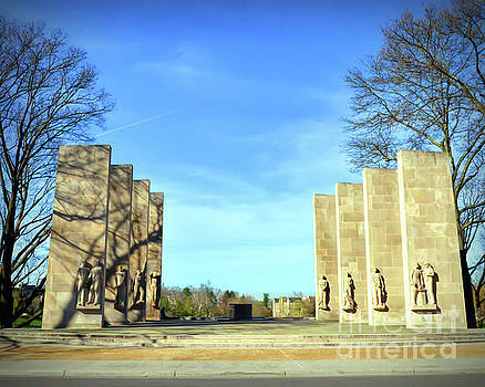 The Pylons At War Memorial Court by Kerri Farley
