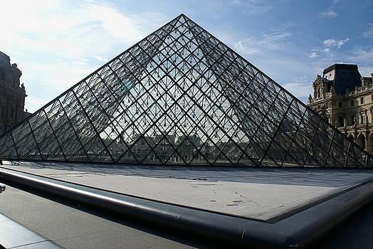 The Pyramid Paris Louvre  Museum by Leonard Rosenfield