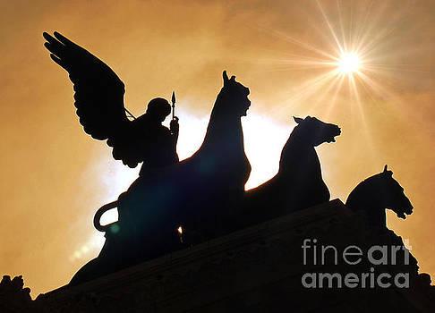 The Quadrigas, Monument to Vittorio Emanuele II, Rome, Italy III by Al Bourassa