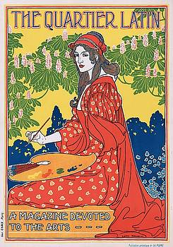 The Quartier Latin a magazine devoted to the arts, advertising poster, ca. 1895 by Vintage Printery