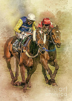 The Race to the post. by Brian Tarr