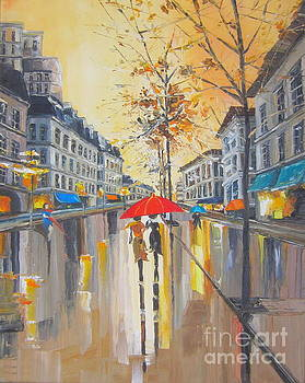 The rain in Boston by Elena Yalcin