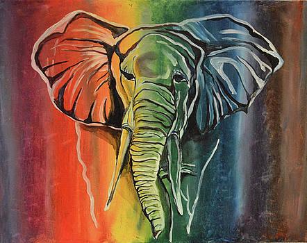 The rainbow elephant by Ann Bakina