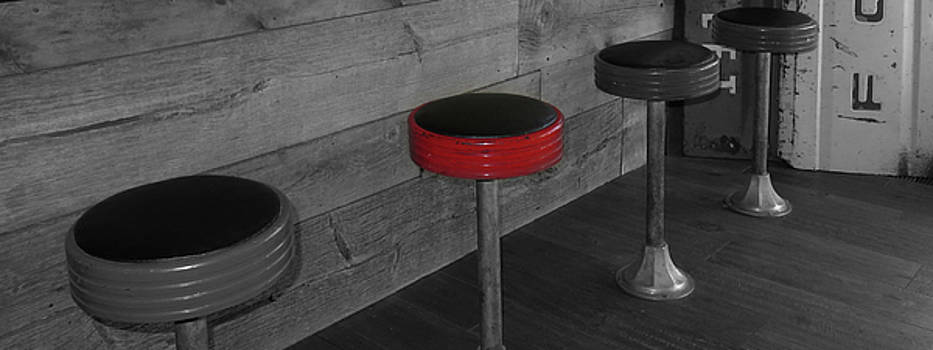 The Red Bar Stool by Walter E Koopmann