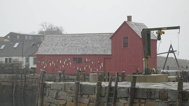 The Red Barn at Rockport MA by Marc Sevigny