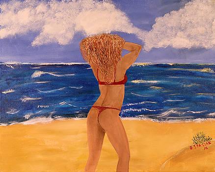 The Red Bikini by David Stasiak