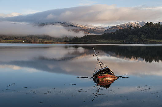 The Red Boat at Loch Etive  by Sue Fulton