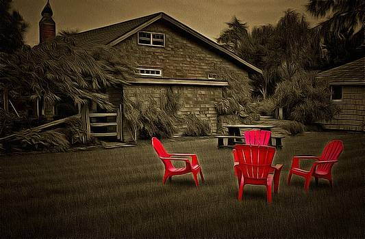 Thom Zehrfeld - The Red Chairs In Neskowin