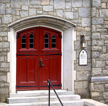 The red church doors by Danielle Allard