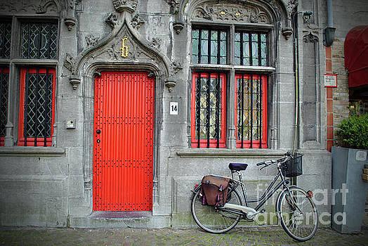 Jost Houk - The Red Door of Bruges