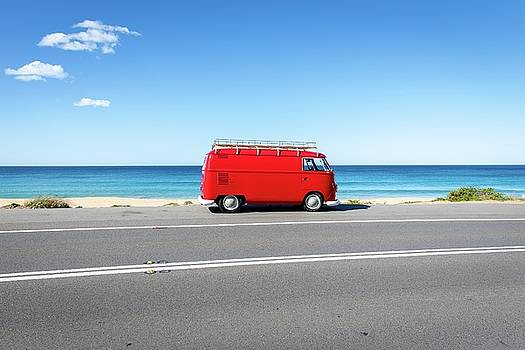The Red Kombi by Simon Rae