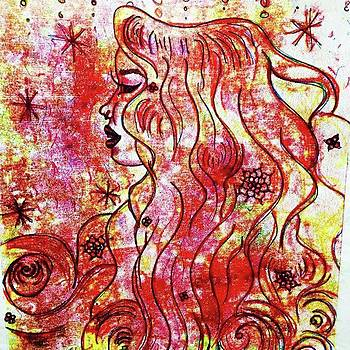The Red Misty Mystery #agonza Girl by AGONZA Art