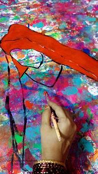 Rizwana Mundewadi - The Red Pilgrim Work in progress
