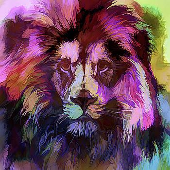 The Red Purple Lion by Daniel Arrhakis