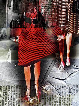 The red skirt by Gabi Hampe