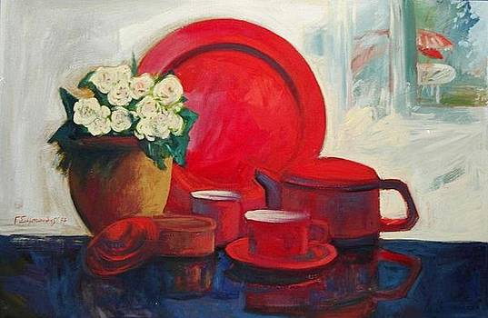 The red still life by George Siaba