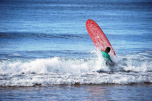 The Red Surfboard by Joe Scoppa
