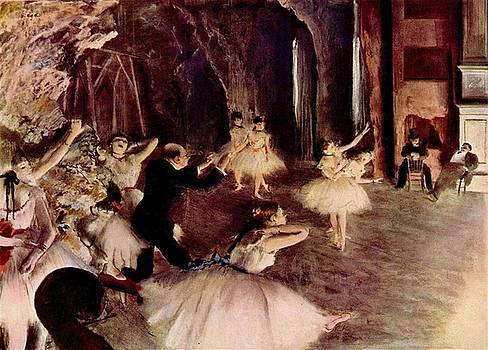 Degas - The Rehearsal Of The Ballet On Stage