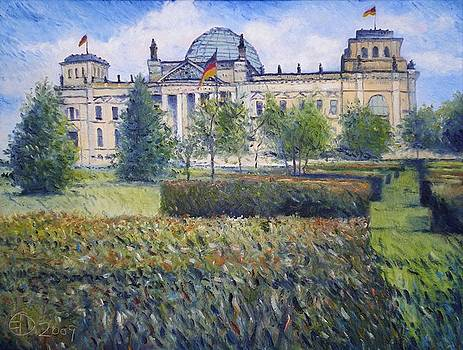 The Reichstag Berlin Germany 2009 by Enver Larney