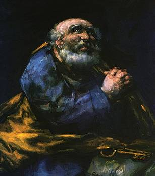 The Repentant Saint Peter by Goya Francisco
