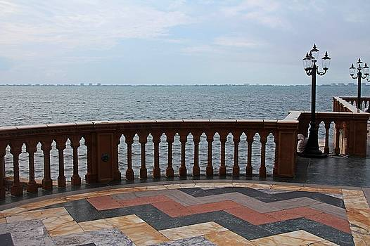 The Ringling Overlooking Sarasota Bay I by Michiale Schneider