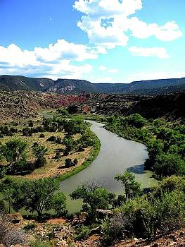 The River Chama At Red Rocks by Sian Lindemann