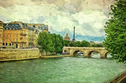 The River Seine, Paris by Kirk Sewell