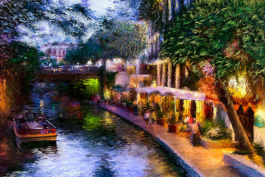 The River Walk by Lisa  Spencer