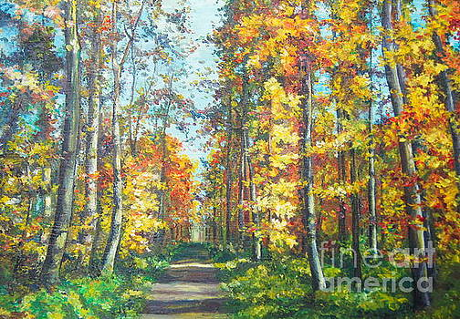 The road in the forest by Elena Yalcin