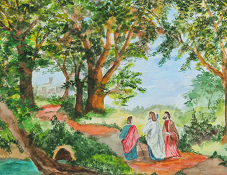 The Road To Emmaus by Phyllis Miller