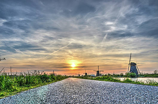 The Road To Kinderdijk by Frans Blok