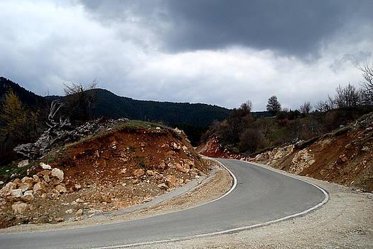 The road under the storm by Aleksandra Savova