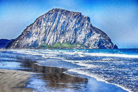 The Rock at Morro Bay Large Canvas Art, Canvas Print, Large Art, Large Wall Decor, Home Decor, Photo by David Millenheft