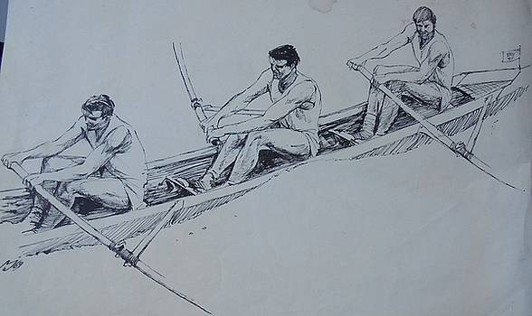 The rowers. by Mike Jeffries