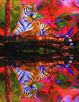 The Royal Tiger  by MS  Fineart Creations